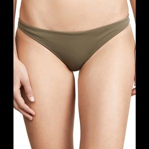 Solid and Striped Eva Bottom Olive Green Med